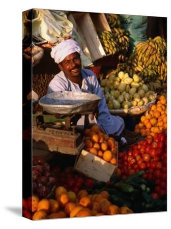 Fruit and Vegetable Vendor in the Luxor Souq, Luxor, Egypt