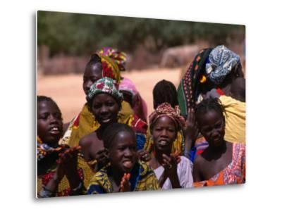 Local Village Children Colourfully Attired on Niger River, Mali