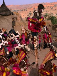 Traditional Dogon Ceremony Associated with the Finish of the Harvest, Tirelli, Mali by Patrick Syder