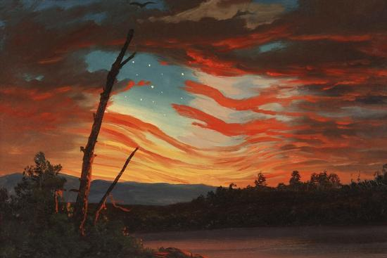 Patriotic and Symbolic Painting after the Attack on Fort Sumter-Stocktrek Images-Art Print