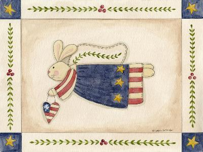 Patriotic Bunny Angel with Heart-Debbie McMaster-Giclee Print