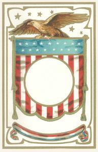 Patriotic Eagle and Banner Motif