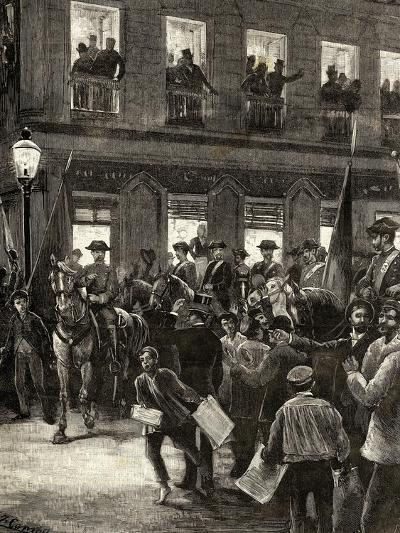 Patriotic Protest in the Seville Street About the Conflict of the Caroline Islands--Giclee Print
