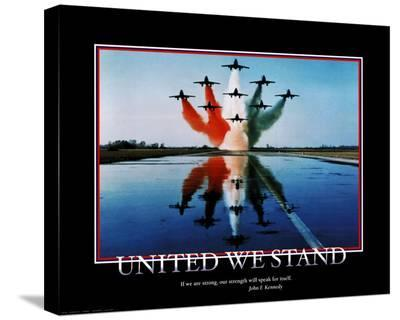 Patriotic United We Stand--Stretched Canvas Print