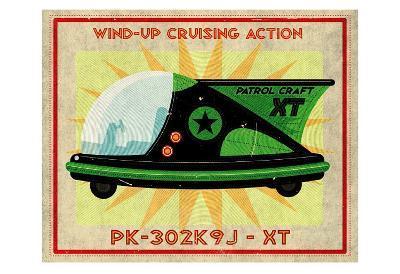 Patrol Craft XT, Box Art Tin Toy-John Golden-Art Print