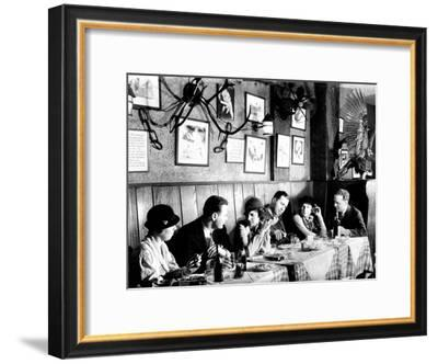 Patrons at a Prohibition Protected Speakeasy Popular for Drinking Aviators-Margaret Bourke-White-Framed Premium Photographic Print