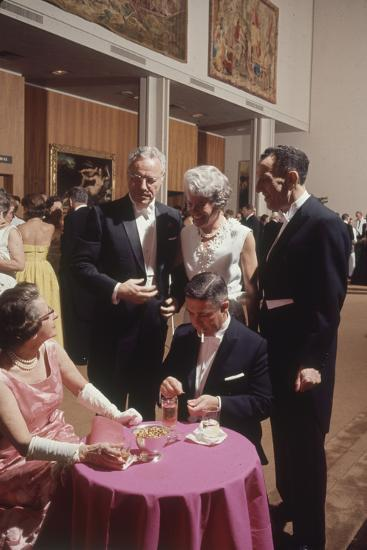 Patrons Attending the Los Angeles Museum of Art Opening. Los Angeles, 1965-Ralph Crane-Photographic Print