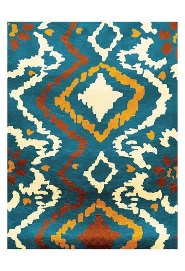 Pattern Blue-Jace Grey-Art Print