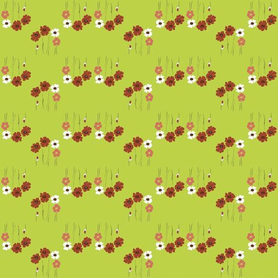 Pattern Coquelicot Lime-Anne Cote-Giclee Print