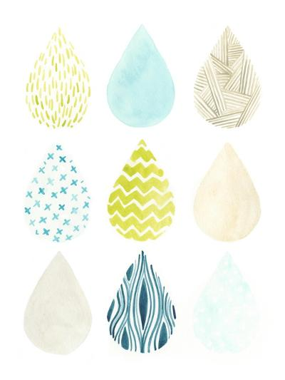 Pattern Drops II-June Erica Vess-Art Print