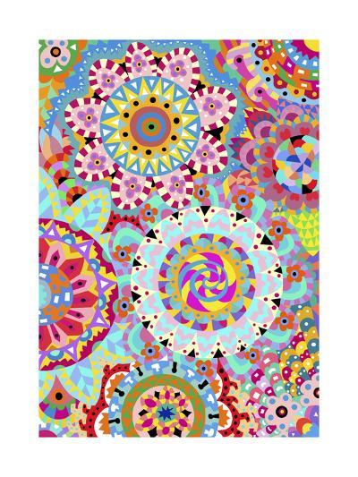 Pattern Flowers 2-Miguel Balb?s-Giclee Print