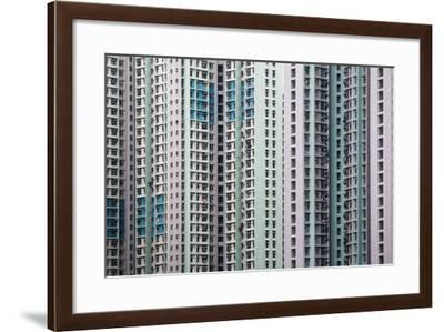 Pattern Formed with Crowded Highrise Buildings-d3sign-Framed Photographic Print