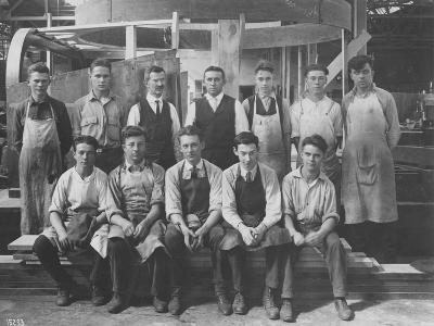 Pattern Maker Apprentices and Instructors, 1920--Photographic Print