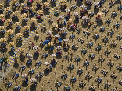 Pattern of Beach Umbrellas and Chairs-Michael Polzia-Photographic Print