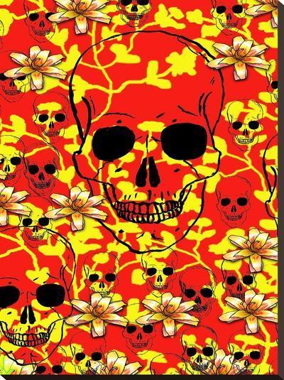 Pattern Skull Design-Wonderful Dream-Stretched Canvas Print