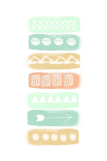 Pattern Stripe 2-Linda Woods-Art Print