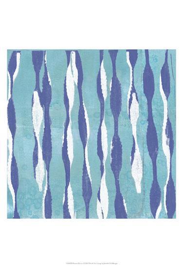Pattern Waves I-Jennifer Goldberger-Art Print