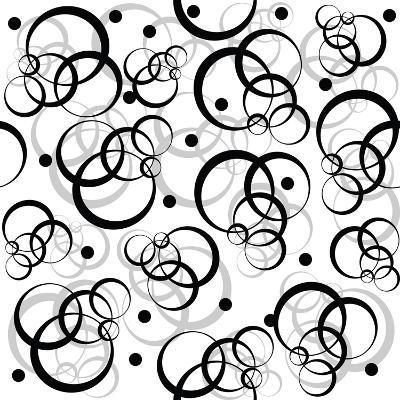 Pattern With Black Circles On White Background-hibrida13-Art Print