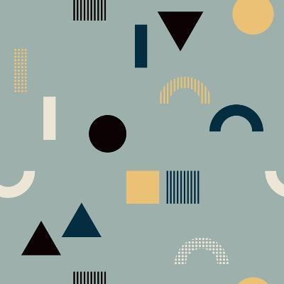 Pattern with Geometrical Shapes-Iliveinoctober-Art Print