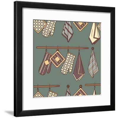 Pattern with Kitchen Textiles-Talirina-Framed Premium Giclee Print