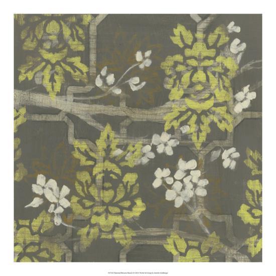 Patterned Blossom Branch II-Jennifer Goldberger-Giclee Print