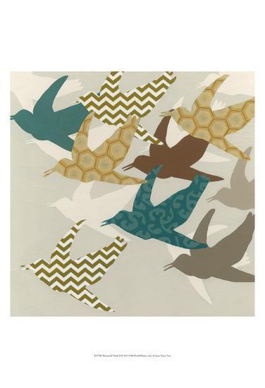 Patterned Flock II-Erica J^ Vess-Art Print