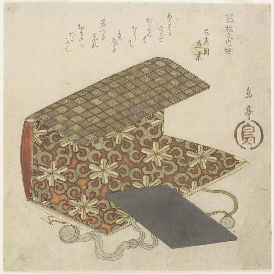 Patterned Folder for Horinouchi Circle, Mid 19th Century-Yashima Gakutei-Giclee Print
