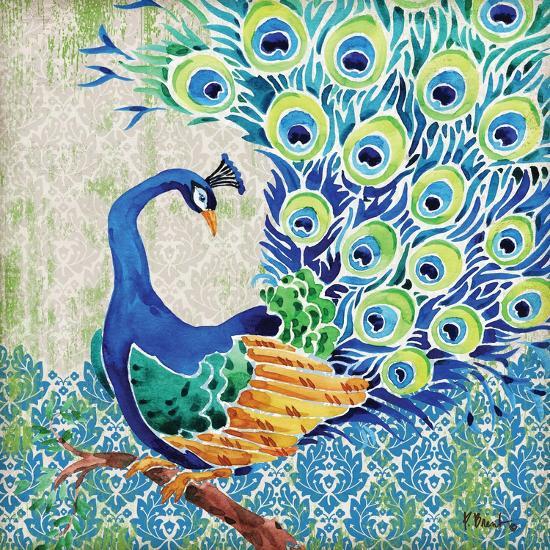Patterned Peacock II-Paul Brent-Art Print