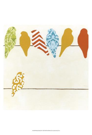 Patterned Perch II-June Vess-Art Print