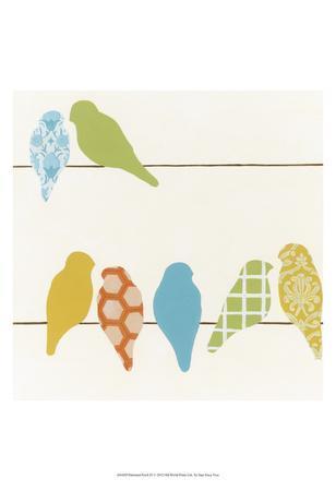 Patterned Perch IV-June Vess-Art Print