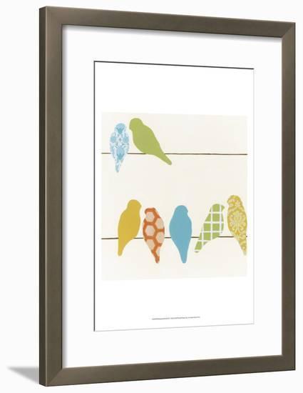 Patterned Perch IV-June Vess-Framed Art Print