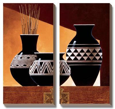 Patterns in Ebony II-Keith Mallett-Canvas Art Set