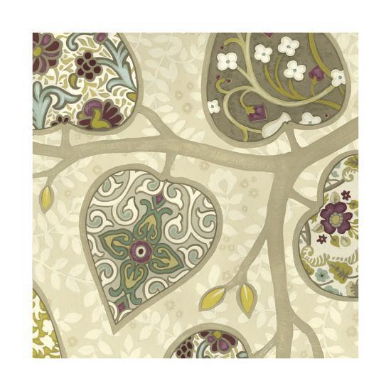 Patterns in Foliage IV-June Erica Vess-Art Print