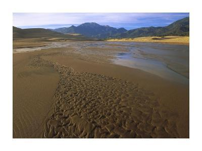 Patterns in stream bed, Great Sand Dunes National Monument, Colorado-Tim Fitzharris-Art Print