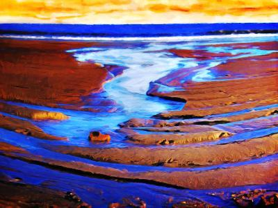 Patterns In Tide-Hal Halli-Art Print