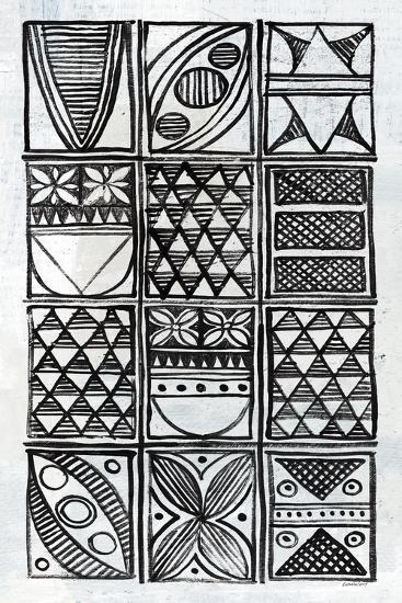 Patterns Of The Amazon IV BW-Kathrine Lovell-Art Print