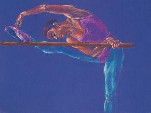Ballet Dancer Stretching by Patti Mollica
