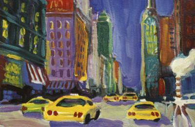 Racing Taxis, New York City by Patti Mollica