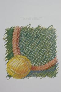 Tennis Racquet by Patti Mollica