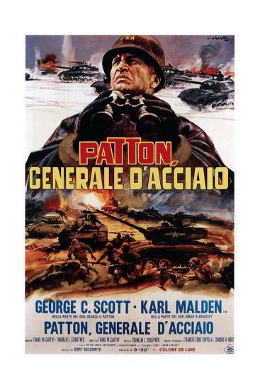 Patton ,(AKA Patton Cenerale D'Acciaio), Italian Poster Art, George C. Scott, 1970--Giclee Print
