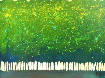 Abstract Green Trees