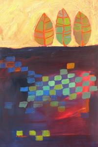 Abstract Trees And Checkered Fields by Patty Baker