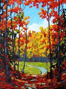 Autumn Path in Old Kinderhook III by Patty Baker