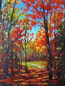 Autumn Path in Old Kinderhook, New York by Patty Baker