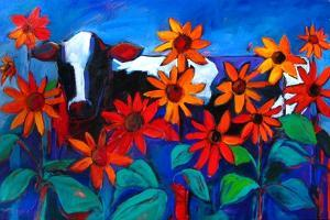 Cow in the Sunflowers by Patty Baker