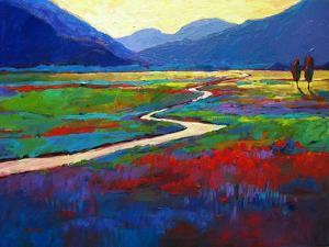 Early Morning Fauve Landscape by Patty Baker