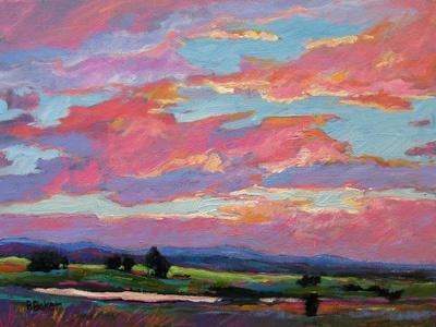 Pink Clouds Over the Foothills