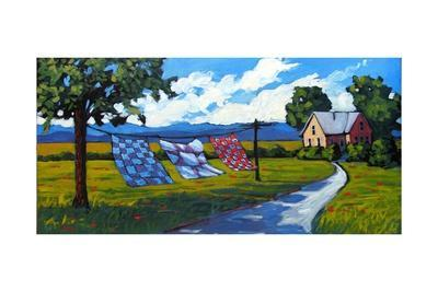 Quilts Blowing in and Afternoon Breeze