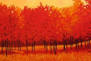 Red Trees by Patty Baker