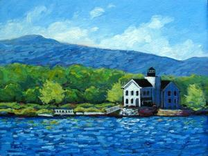 Saugerties Lighthouse on the Hudson River by Patty Baker